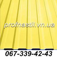 Профнастил желтый ПС-12 RAL 1018 Винница, фото 1