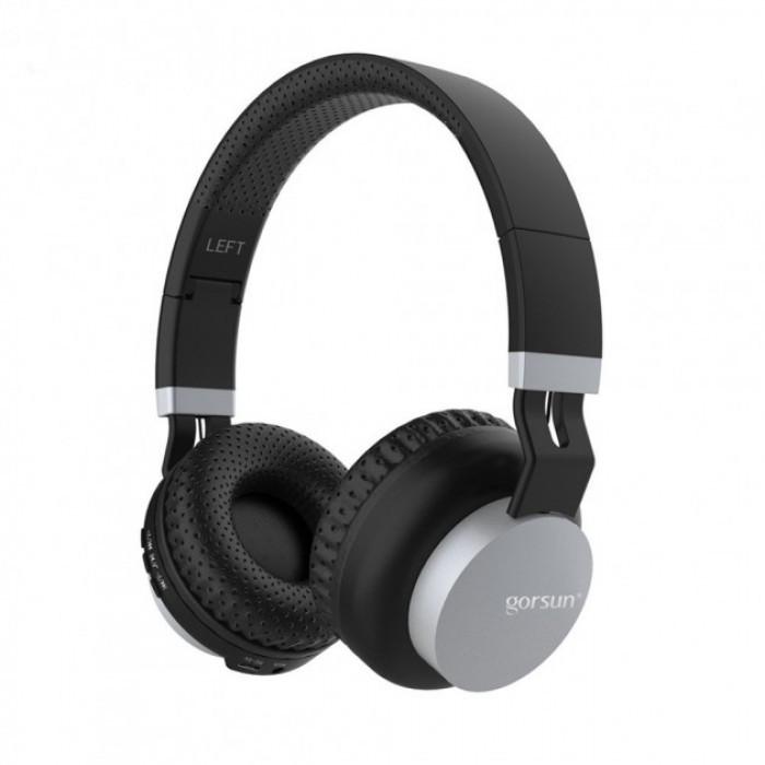 Беспроводные Bluetooth Стерео наушники Gorsun GS-E89 Чёрные с Серым