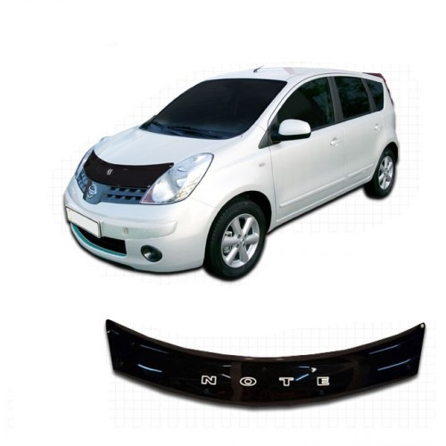 Дефлектор капота  Nissan NOTE c 2006,  Мухобойка   Nissan NOTE