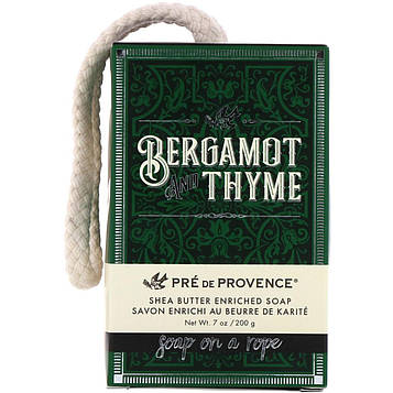 European Soaps, Pre de Provence, мыло на веревке, бергамот и тимьян, 7 унций (200 г)