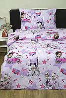 Детское постельное белье для подростков Lotus Young Fashion лиловый ранфорс полуторный размер