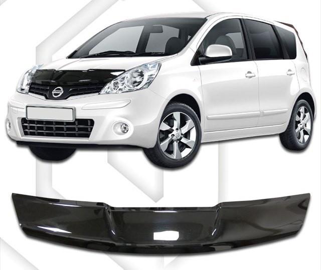 Дефлектор капота  Nissan NOTE c 2009-2013,  Мухобойка   Nissan NOTE