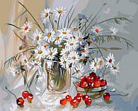 Картина по номерам Brushme 40х50 Ромашки и вишня (GX7840), фото 1