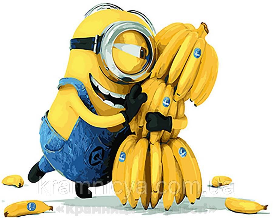 Картина по номерам Brushme 40х50 Миньоны Банана (GX21626)