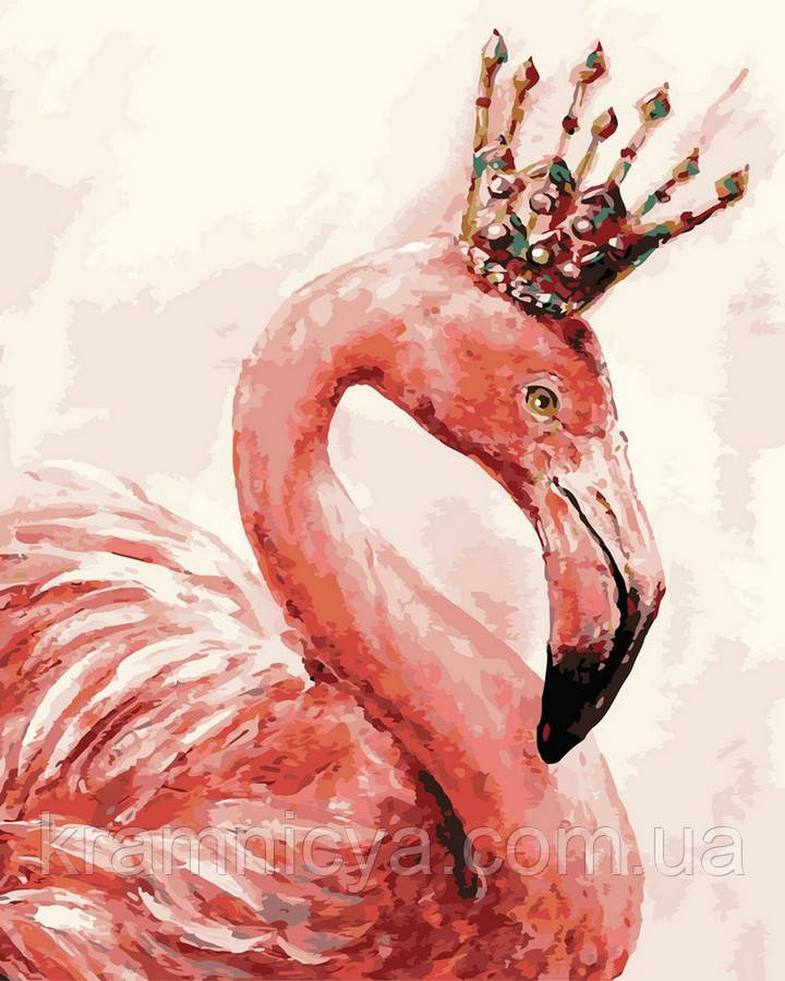 Картина по номерам Brushme 40х50 Королевский фламинго (GX4352)