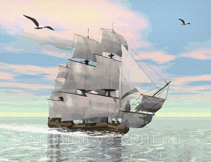 Картина по номерам Brushme 40х50 Корабль на рассвете (GX29368)