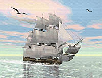 Картина по номерам Brushme 40х50 Корабль на рассвете (GX29368), фото 1