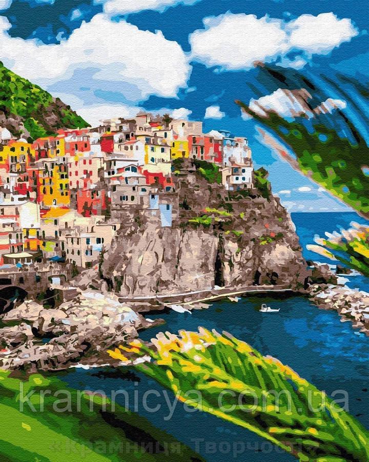 Картина по номерам Brushme 40х50 Курортный городок в Италии (GX32323)