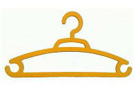 """Вешалка для одежды - 40 оранжевый """"Lamela"""""""