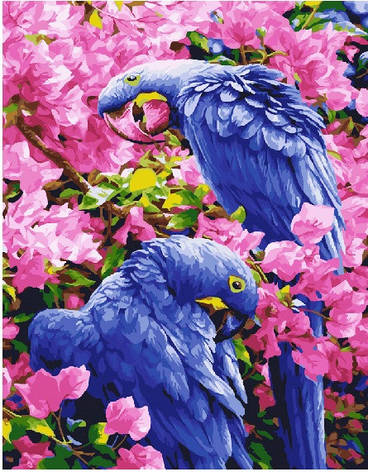 "Картина по номерам. Brushme ""Птицы в цветах"" GX25245, фото 2"