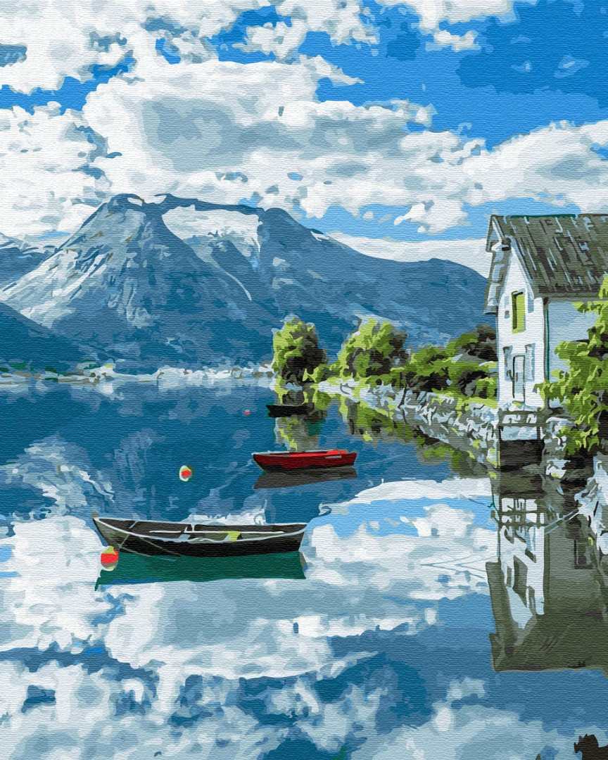 "Картина по номерам. Brushme ""Провинция Норвегии"" GX32309"