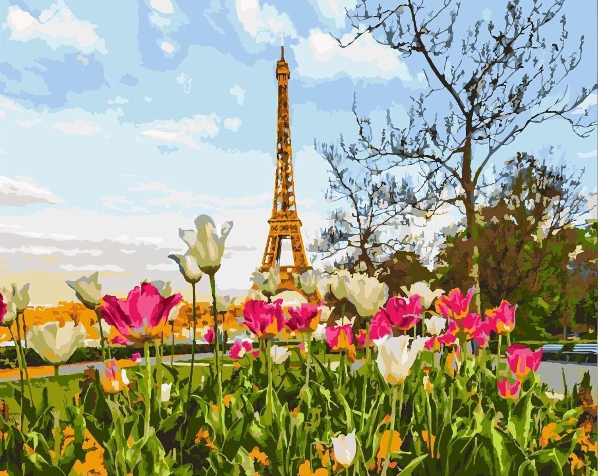 """Картина по номерам. Brushme """"Весна в Париже"""" GX3258"""