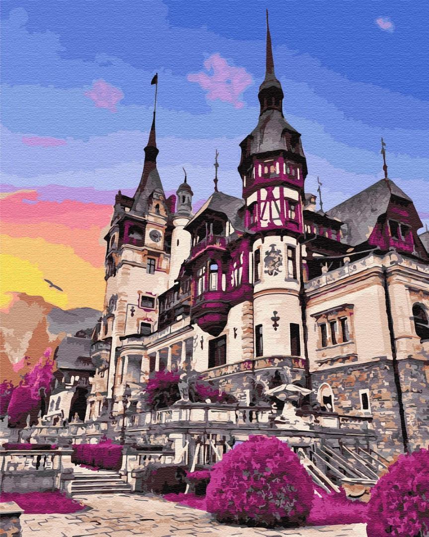 """Картина по номерам. Brushme """"Замок Пелеш в Румынии"""" GX32322"""