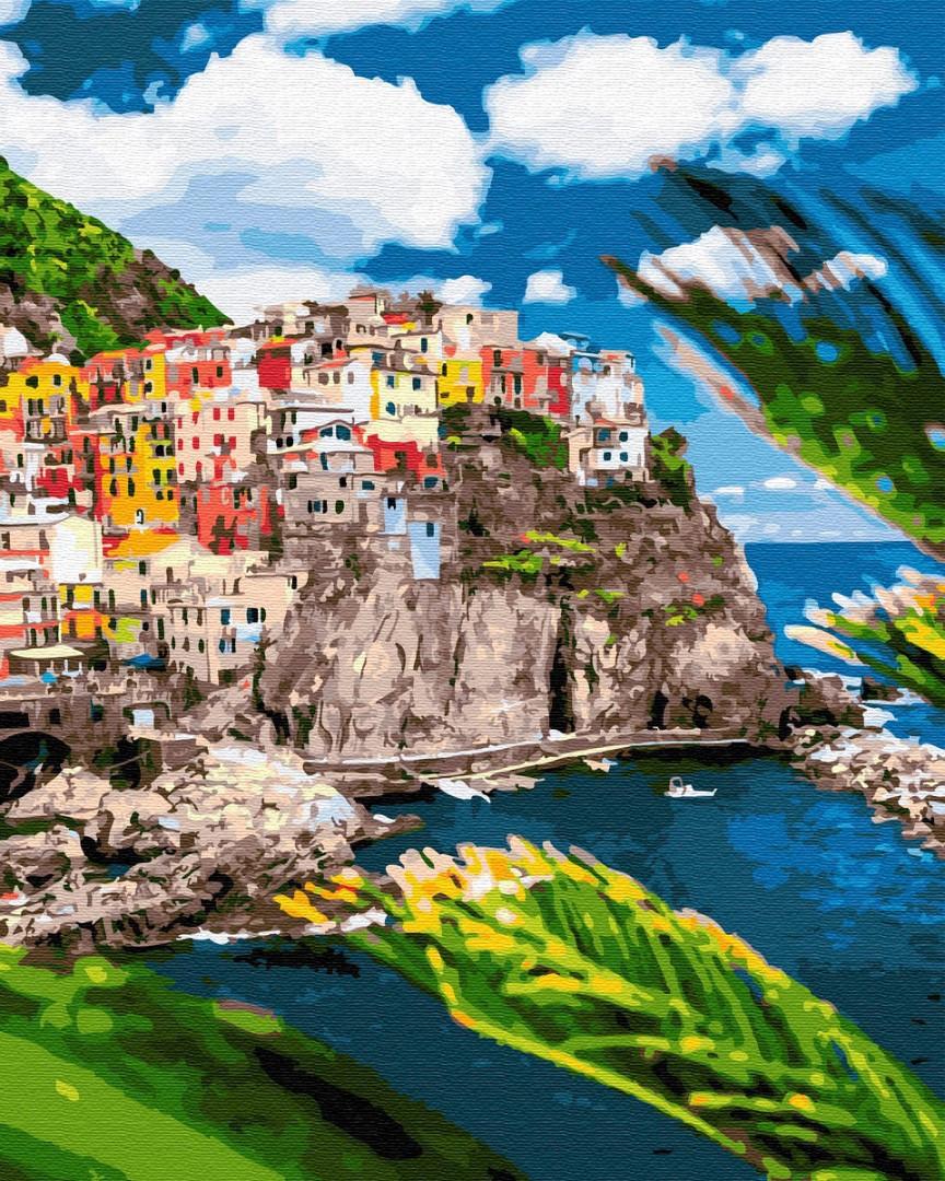 """Картина по номерам. Brushme """"Курортный городок в Италии"""" GX32323"""