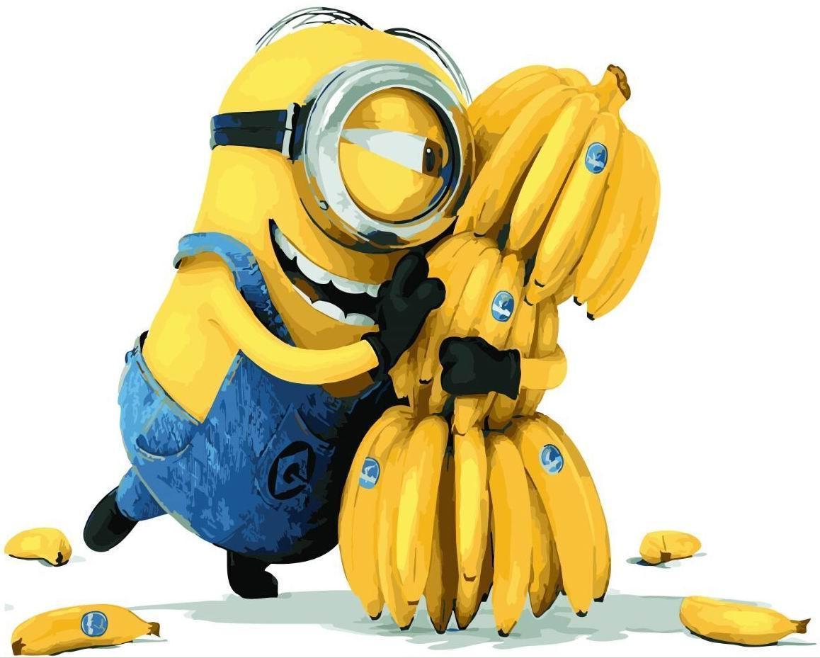 """Картина по номерам. Brushme """"Миньоны Банана"""" GX21626"""