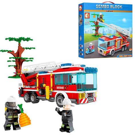 Конструктор SD603040 (18шт) пожарная техника, мотоцикл, фигурки, 330дет, в кор-ке,33-30,5-7см, фото 2