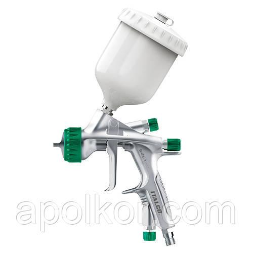Пневматичний фарборозпилювач HVLP верх.пласт.бачок 600мл, форсунка-1,3 мм ITALCO Shine-1.3
