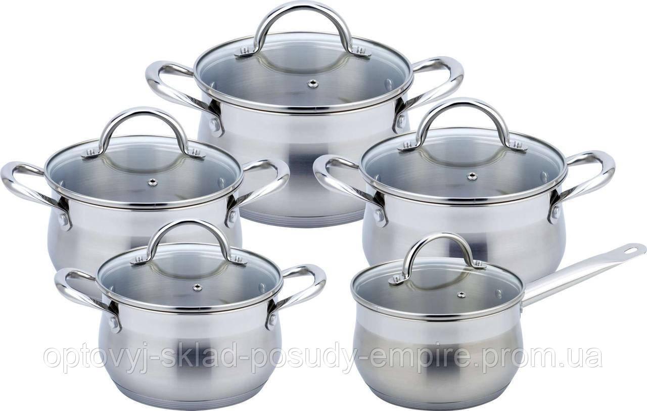 Набор посуды (кастрюли 2.7л/3.7л/4.9л/6.3л + ковш 2л) Con Brio CB-1152