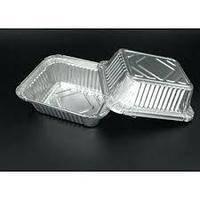 Контейнер из пищевой алюминиевой фольги 430мл (SP24L) 100шт / уп (130 * 105мм.)
