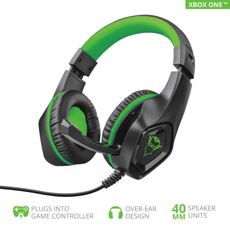 Гарнитура Trust GXT 404G Rana Gaming Headset for Xbox One 3.5mm GREEN