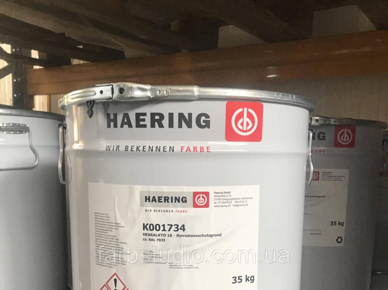 Антикоррозийная грунтующая эмаль Haering Haeraplast 1K H5 акриловая на основе Пвх Германия