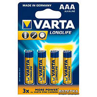 Батарейка VARTA LONGLIFE R-3 ААА Блистер (алкалайн) 4шт / ок 40шт. / Уп