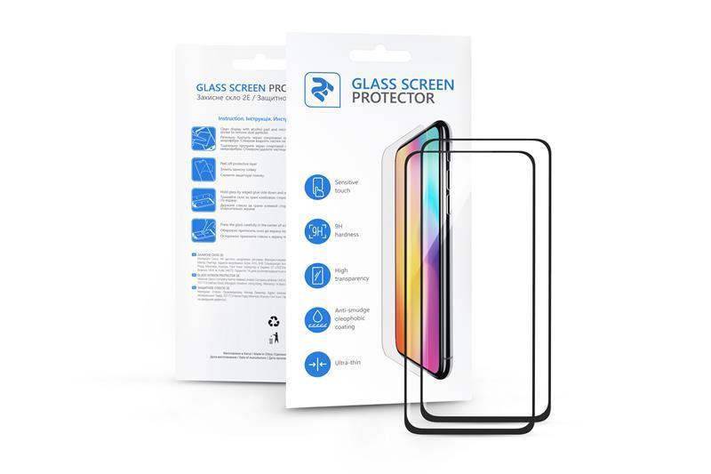 Комплект 2 в 1 защитные стекла 2E Basic для Xiaomi MI 9, FCFG, Black