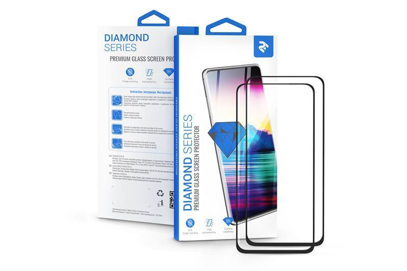 Комплект 2 в 1 защитные стекла 2E для Huawei Y5 2019/Honor 8S, 2.5D FCFG, black border