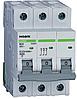 Модульный автоматический выключатель 6 kA, характеристика C, 32 A, 3 полюса