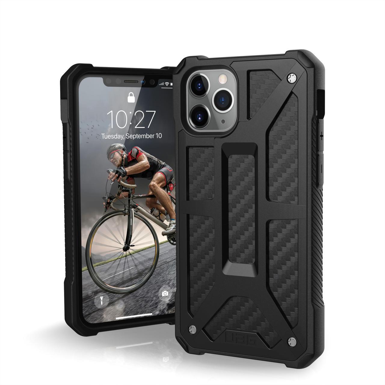 Противоударный чехол UAG для iPhone 11 Pro Monarch, Carbon Fiber