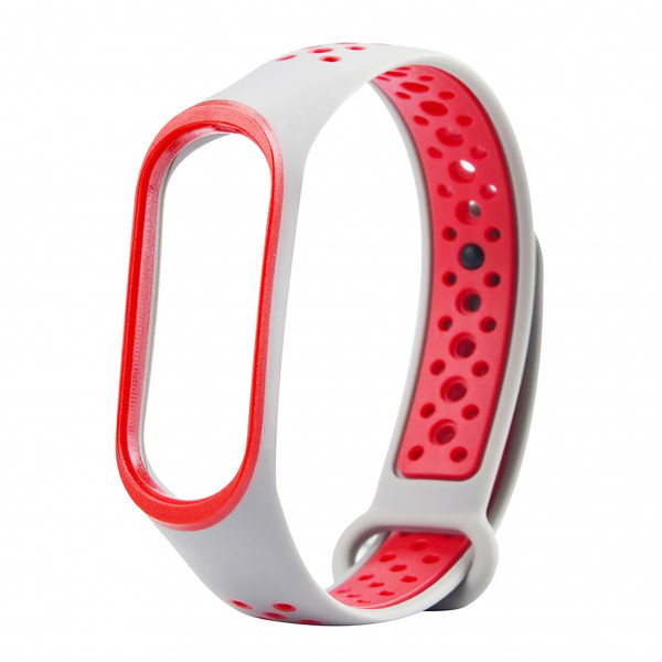 Ремешок Xiaomi Mi Band 2 SPORT White-red