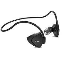 Беспроводные спортивные наушники с микрофоном Bluetooth гарнитура AWEI A840BL черные, фото 1