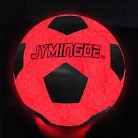 Футбольный мяч Jymindge Оранжево-черный 5 с LED подсветкой (S_M_230919_06)