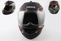 Мотошлем, Мотоциклетный шлем Интеграл (full-face) (mod:HAWK) (Размер:XL, черный матовый) Ямаха (Yаmaha)