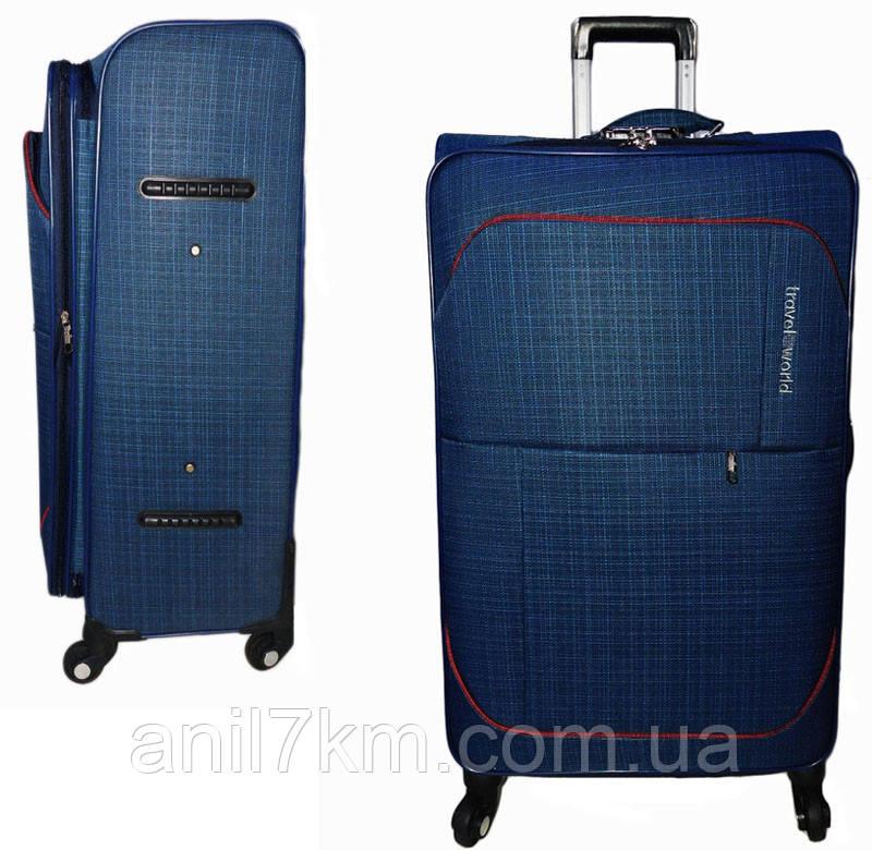 Большой четырёхколёсный чемодан Travel World