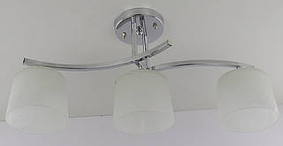 Люстра потолочная на 3 лампочки (26х20х56 см.) Хром YR-228/3A