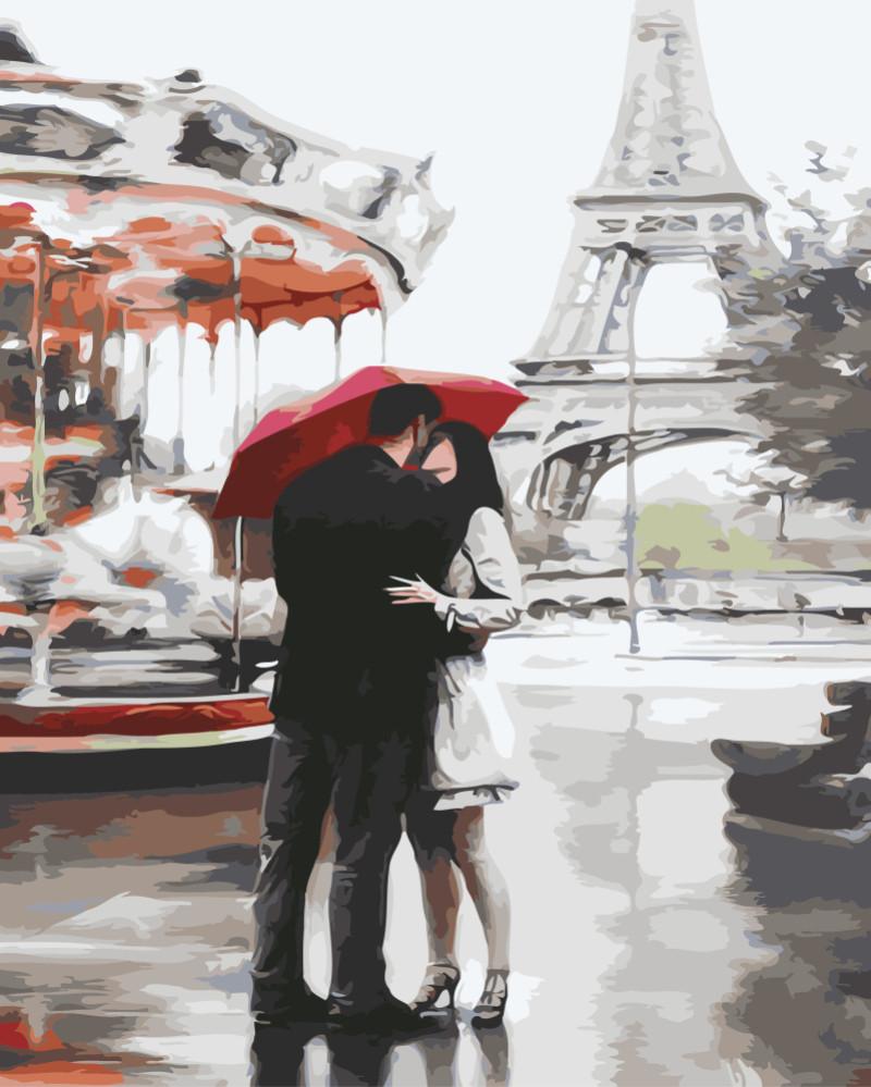 Картина по номерам Под зонтом счастья 3015 40*50