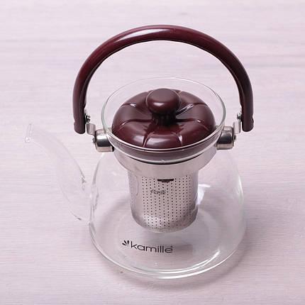 Заварювальний чайник з ситом на 800 мл Kamille KM-1617, фото 2