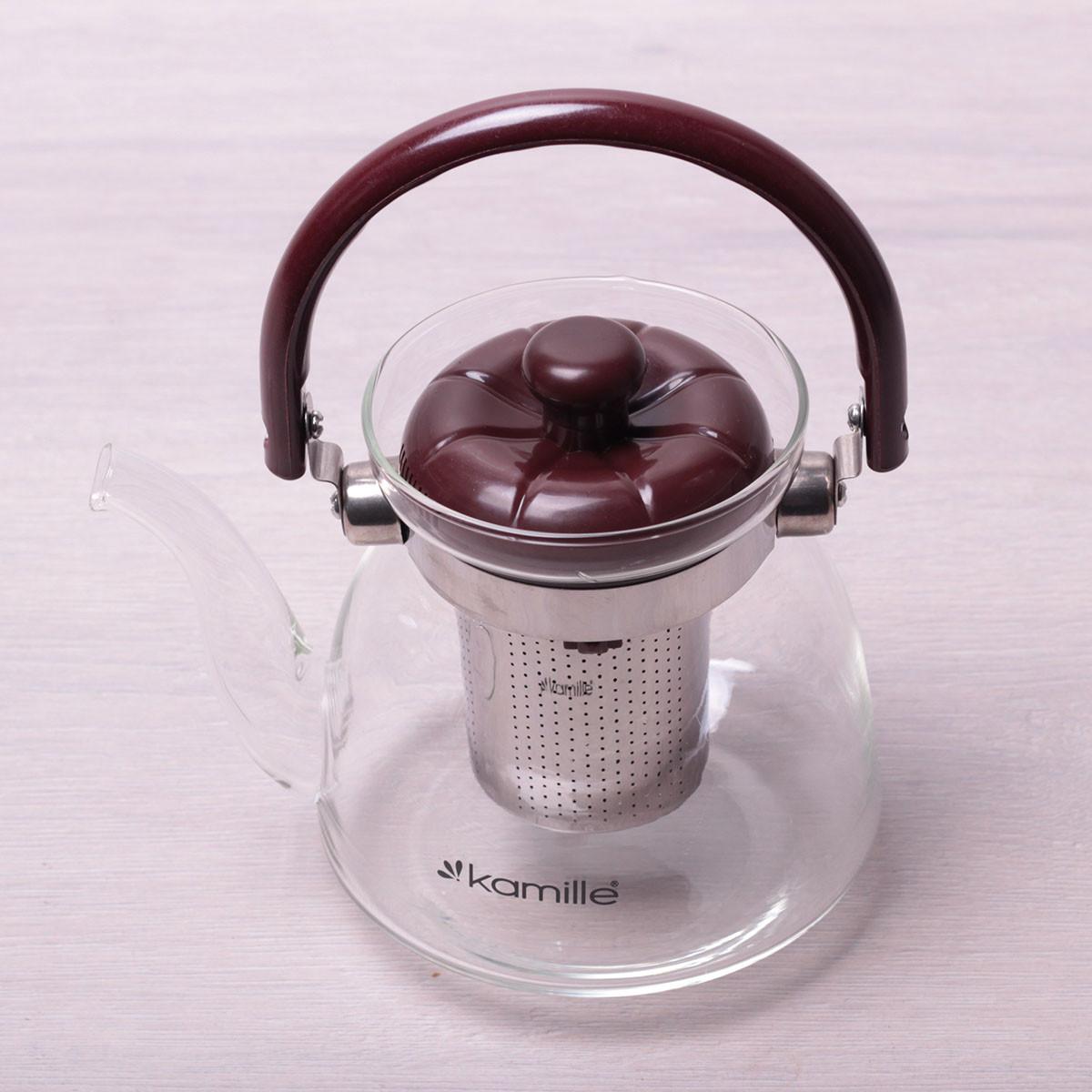 Заварювальний чайник з ситом на 800 мл Kamille KM-1617