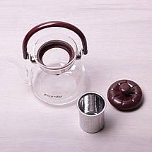 Заварочный чайник с ситом на 800 мл Kamille KM-1617, фото 2
