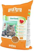 Сухой корм для кастрированных котов и стерилизованных кошек Клуб 4 Лапы  11кг