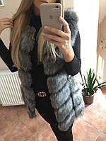 Женская меховая жилетка ЭКО МЕХ! безрукавка, шуба на меху, житет осенняя, зимняя куртка, пальто