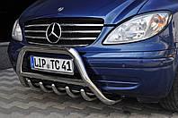 Кенгурятник, защита переднего бампера Mercedes Vito 639