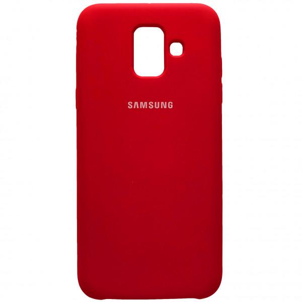 Чехол - накладка Silicone Cover для Samsung J6 2018 Red