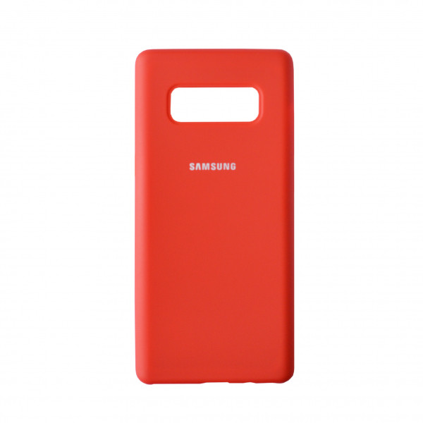 Чехол - накладка Silicone Cover для Samsung Note 8 Red