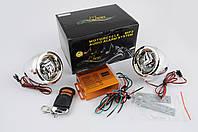 Аудиосистема для мототехники, мотоакустика Чезет (Cezet)MP3004-2 (динамики 2,5, хром, сигнализация, FM/МР3 плеер, ПДУ)