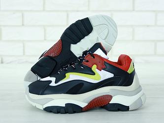 "Женские кроссовки Ash Addict Sneakers ""Black/Red/Yellow"" (люкс копия)"
