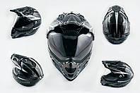Мотошлем, Мотоциклетный шлем  Кроссовый - Эндуро - АTV (mod:MX433) (с визором, Размер:XXL, черно-серый с узором) LS-2