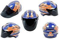 Мотошлем, Мотоциклетный шлем  Открытый (jet) (mod:100) (аэроформа, черный визор) (Размер:L, IND.ENG) LS2