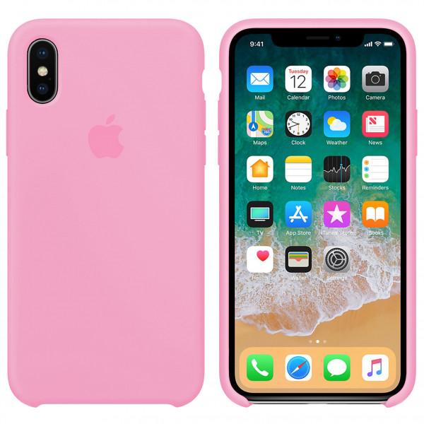 Силиконовый чехол Silicone Case для iPhone X/XS ( 6) light pink